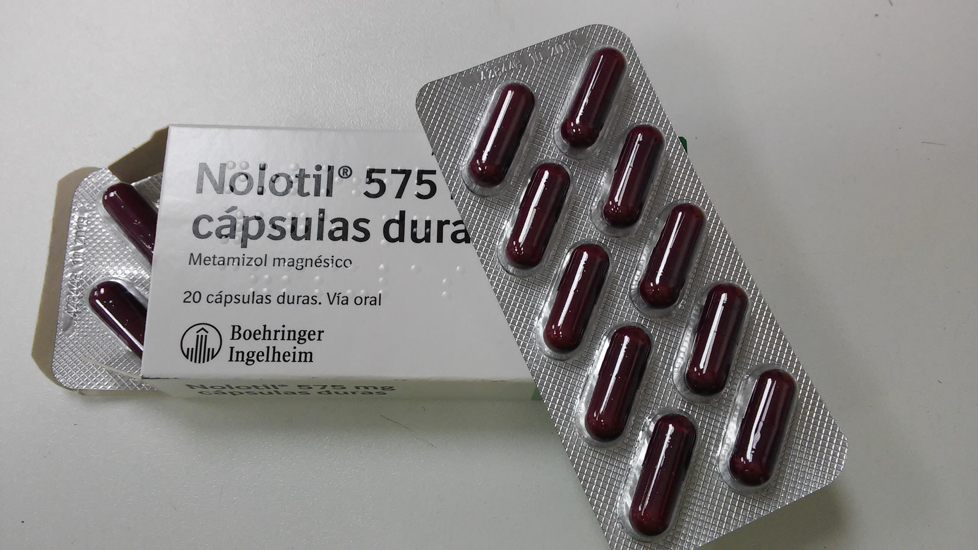 mezclar nolotil y paracetamol